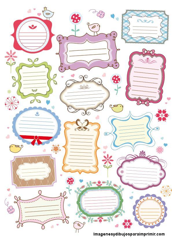 Etiquetas y cartelitos-Imagenes y dibujos para imprimir