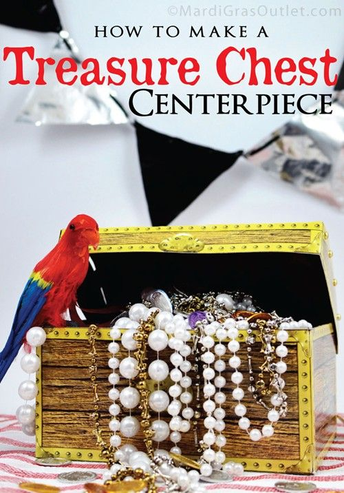 Diy treasure chest pirate centerpiece tutorial plus diy pennant banner