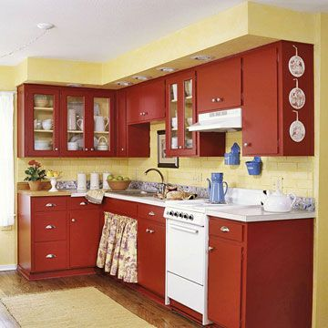75 best images about kitchens on pinterest copper for Red and yellow kitchen ideas