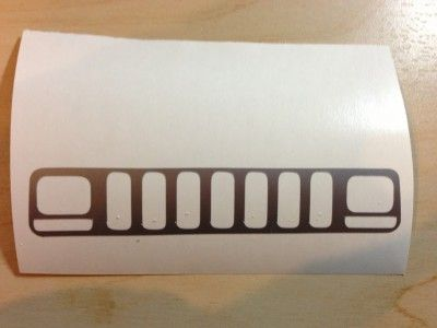 Jeep XJ grill sticker