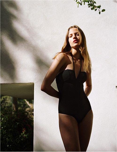 Pleated swimsuit - OYSHO.com