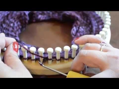 Loom Knit Traditional Knit Stitch (AKA Reverse Purl) - YouTube
