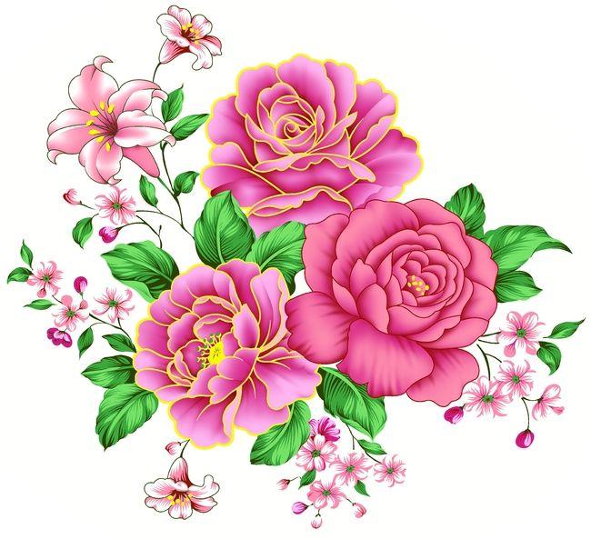 1044 besten clipart flowers bilder auf pinterest blumen. Black Bedroom Furniture Sets. Home Design Ideas