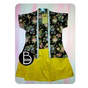 Setelan Kutubaru Anak Shabby Chic & Skirt Yellow Cotton