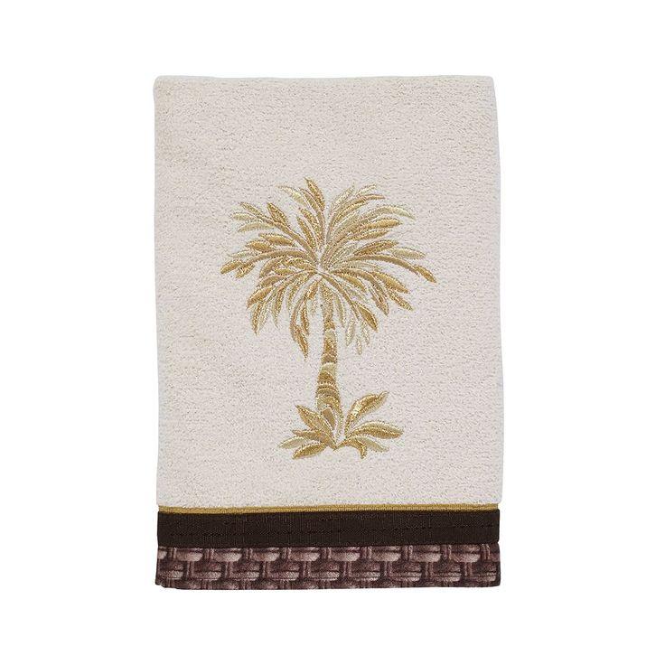 Avanti Oasis Palm Hand Towel, Beig/Green (Beig/Khaki)