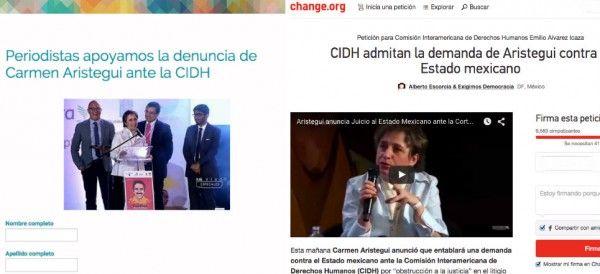 Mientras unos recaban firmas en <span style='color: #ff6600;'><a href='https://www.change.org/p/cidh-admitan-la-demanda-de-aristegui-contra-el-estado-mexicano' target='_blank'><span style='color: #ff6600;'>Change.org</span></a></span>, otros envían sus datos para sumarse a la denuncia contra el Estado mexicano.