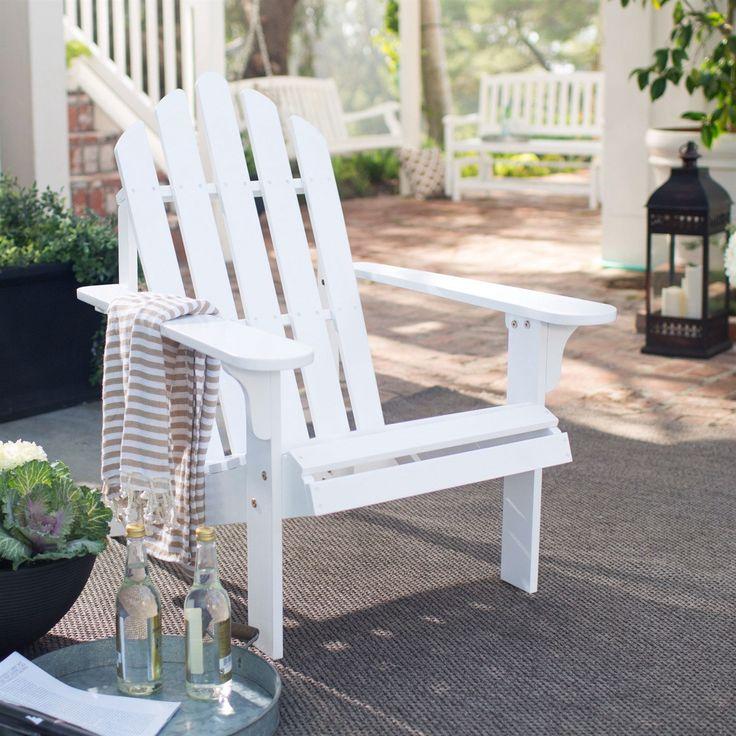 Amazing White Wood Classic Adirondack Chair With Comfort Back Design