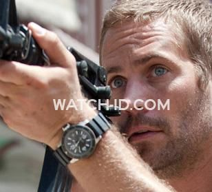 In the movie Fast Five Paul Walker as Brian O'Conner wears a Jaeger-LeCoultre Master Compressor Diving Automatic Navy SEAL watch