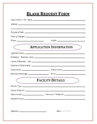Blank Request Form My board Pinterest - requisition form in pdf