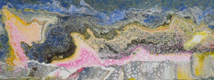 Kunst - Muttertagsgeschenk, Geschenk zum Muttertag, Fliesstechnik, Fließtechnik, liquid acryl, fluid painting, Bild - ein Designerstück von Atelier-Melanie-Landgraf bei DaWanda