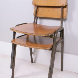 Children's Vintage Metal Legged Chairs | blueticking.co.uk | Get The Look | Warehouse Home Design Magazine