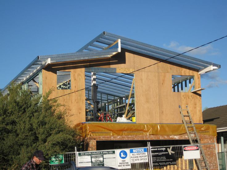 Boxspan Steel Skillion Roof Frame and Timber wall frames