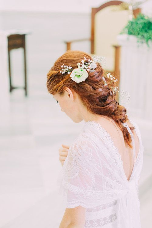 Discover the 70 most exciting bridal hairstyles for your wedding styling with wow effect #hair jewelry #braut #wedding #details #frisu
