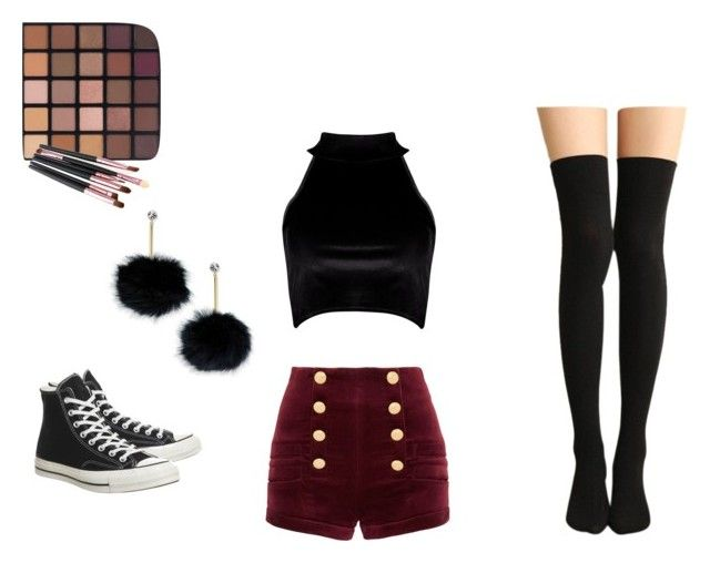 """""""👌👌"""" by abeanfromouterspace on Polyvore featuring Boohoo, Pierre Balmain, Converse and Kate Spade"""