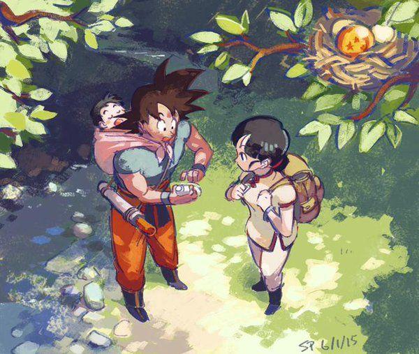 Chi-Chi, Son Gokū & Son Gohan - Dragon Ball | by @Shinpunch