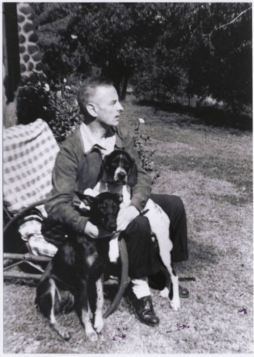 Polish writer Witold Gombrowicz loved dogs.