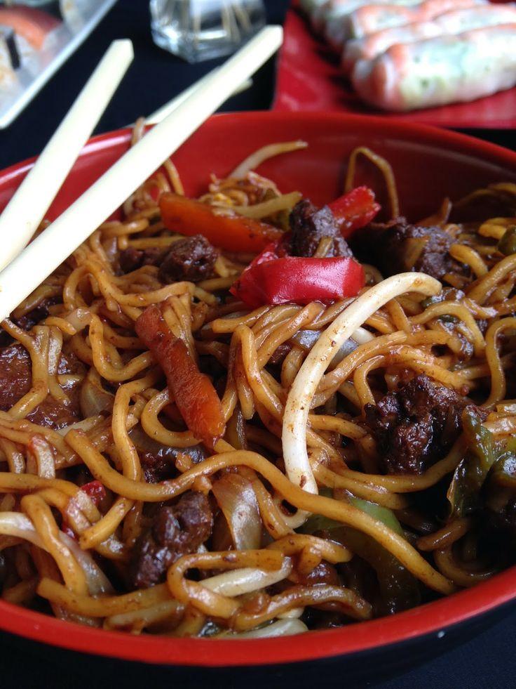 Nouilles chinoises sautées boeuf Legumes