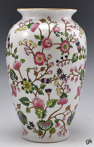 Beautiful Antique Vintage Chinese Large Porcelain Vase Colorful Floral 1900'S | eBay