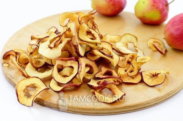Яблоки сушеные в духовке на зиму