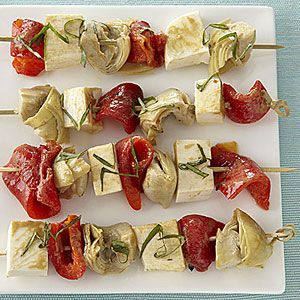Quick & Simple Appetizer everyone will love!...Antipasto Skewers from All You via My Recipes