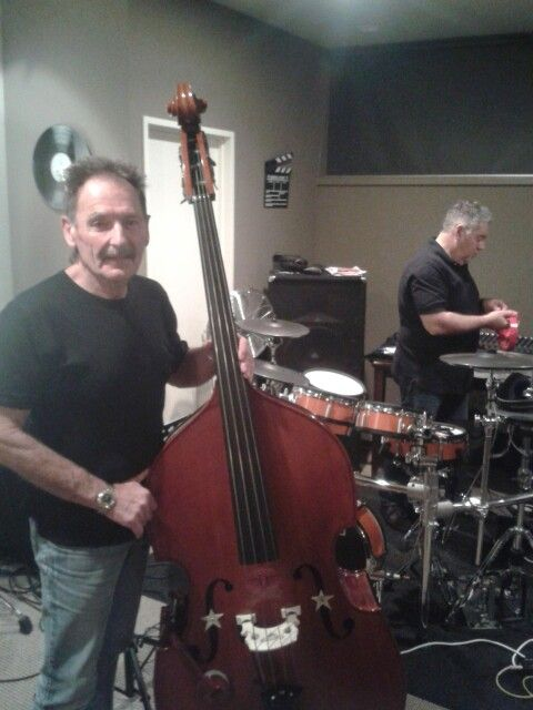 Greg and Dean at  Recording session