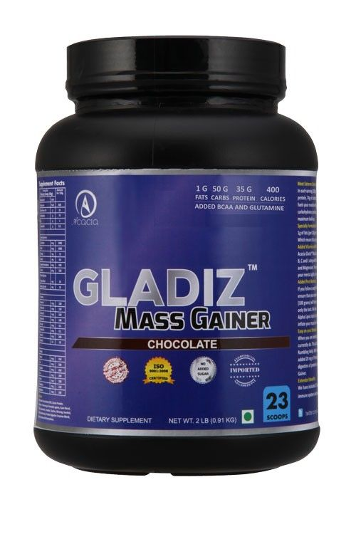 Buy Best Mass Gainer Online at Acacia world in India. Gladiz™ Mass Gainer 2 lb is Best Mass Gainer Supplement for Body Building.