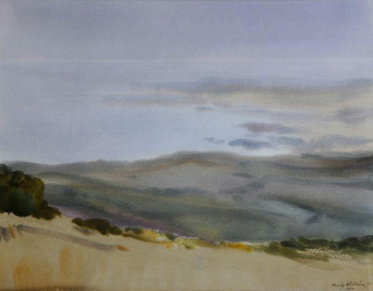 Hardy Wistuba - Paisaje, luz en la niebla - Acuarela