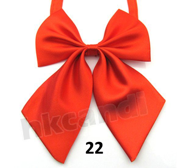 >> Click to Buy << big red compere ties bow ties women's bow tie polyester silk Adjustable Brand New solid butterfly tie #Affiliate