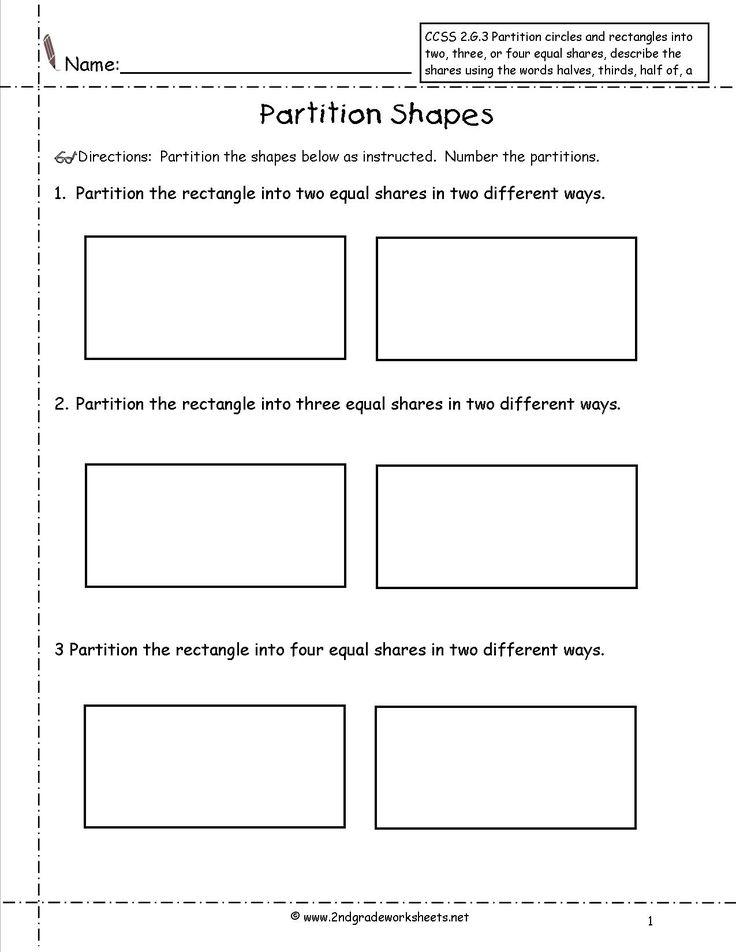partitioning shapes into equal parts worksheet google search education. Black Bedroom Furniture Sets. Home Design Ideas