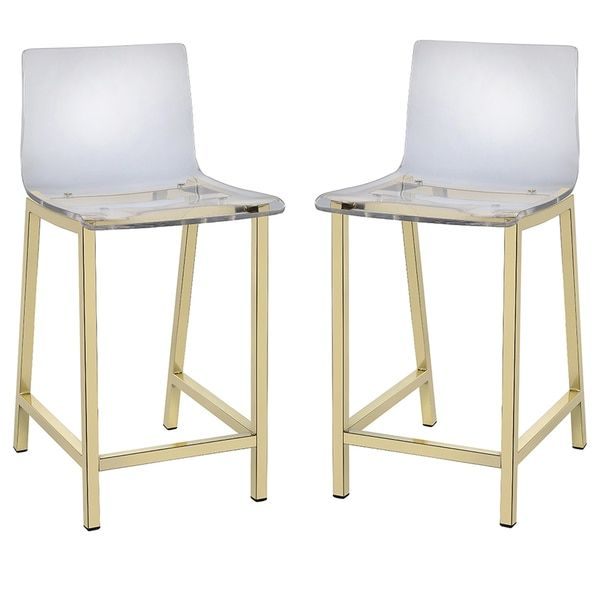 Pure Decor Clear Acrylic Counter Stool - Set of 2 | Overstock.com Shopping - The Best Deals on Bar Stools