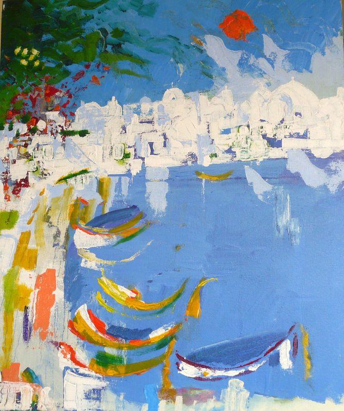 Skopelos - http://www.contemporary-artists.co.uk/paintings/skopelos/