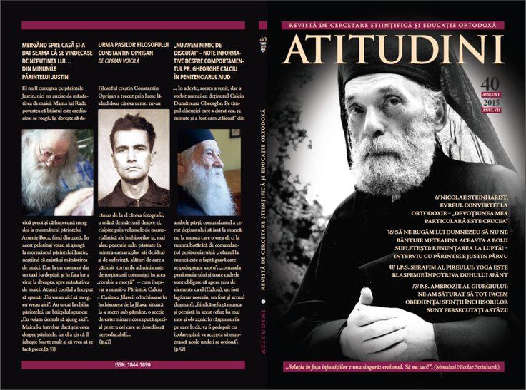 A apărut Revista ATITUDINI, NR. 40 - ÎN MEMORIA SFINȚILOR ÎNCHISORILOR