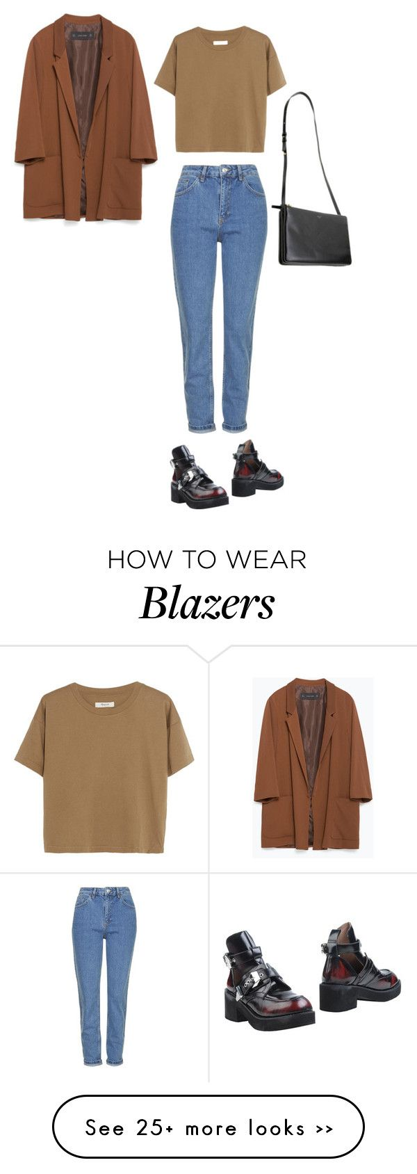 """Untitled #5176"" by dreamer-in-paris on Polyvore featuring Madewell, Topshop, Jeffrey Campbell and Zara"