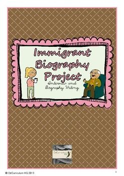 This project requires students to plan and carry out an interview with an immigrant. The information gained from the interview is then used to write a biography. This pack contains student printables for planning and conducting an interview, a planning framework for organising their interview data and a writing framework for producing the paragraphs of the biography.