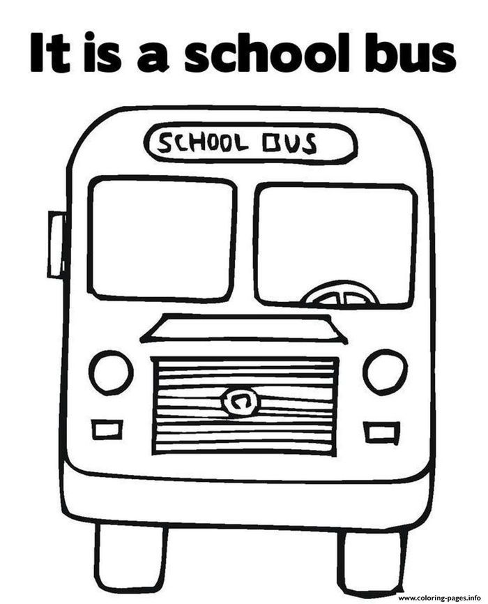 Bus Coloring Pages Collection | Printable valentines ...