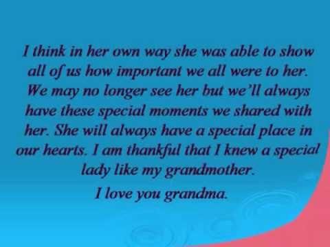 funeral speech for grandma - Google Search   Nanie   Pinterest ...