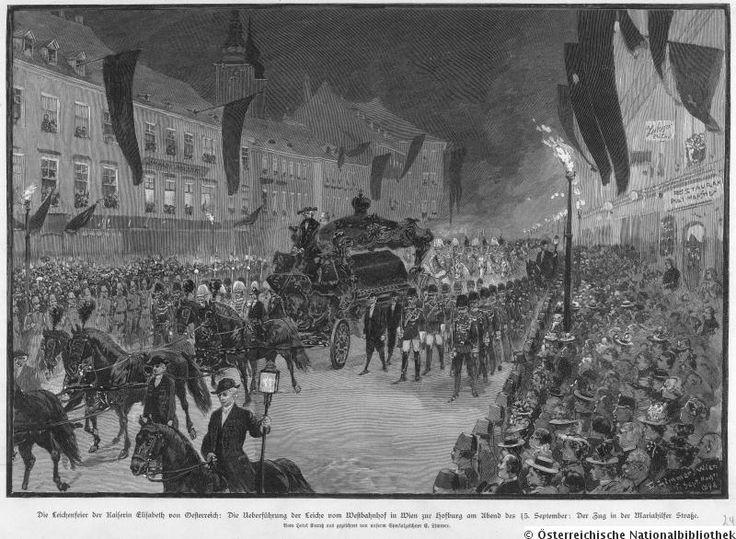 Leichenfeier für Kaiserin Elisabeth 1898