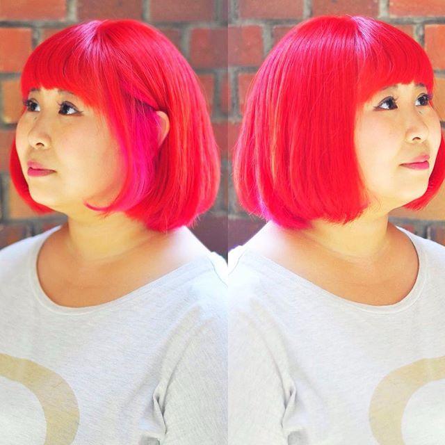 WEBSTA @ soleige - #オレンジ#ピンク#インナーカラー#グラデーション#外国人風カラー #ソレイジュ#soleige#派手髪…
