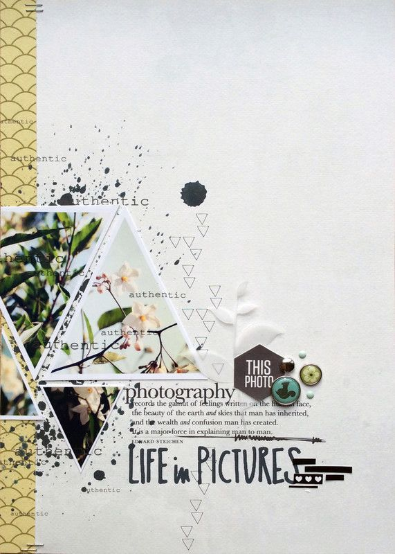 Papercraft Scrapbook Layout.