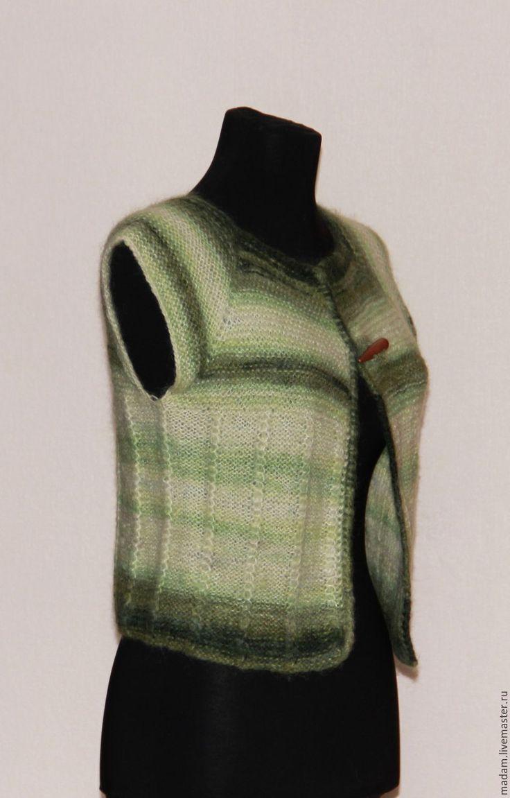 """Купить Вязаное болеро """"Штучка"""" - зеленый, бохо, этно, вязаное болеро, болеро вязаное"""