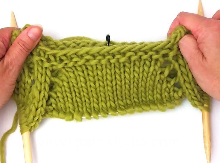 DROPS Knitting Tutorial - Raglan increases worked top down