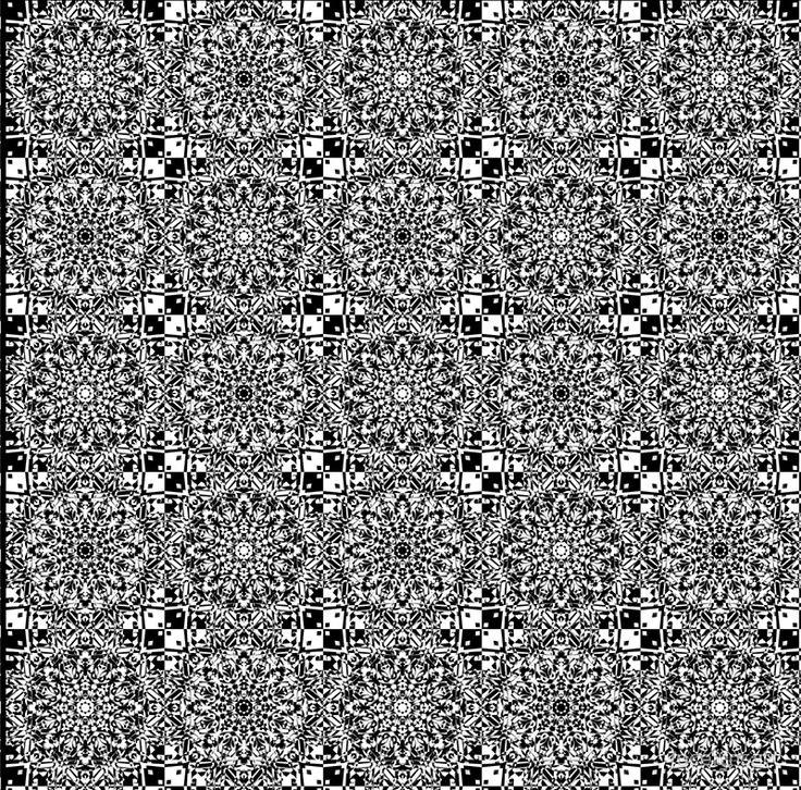 Black and White Mandala Weave Tile A Line Dress