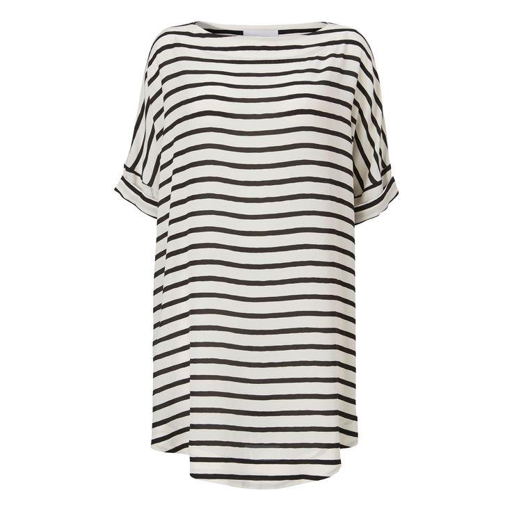 Moon dress - stripe print
