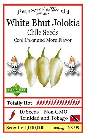 White Bhut Jolokia is a cool color and very unique. It is like all Bhut jolokias where the heat builds and builds in your mouth. HOT HOT HOT! http://www.sandiaseed.com/collections/hottest-pepper-seeds/products/bhut-jolokia-ghost-chile