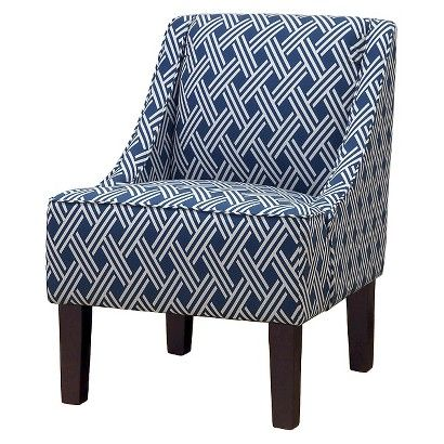 lounge chair  small frame like this but can have arms.  geometric pattern that would go with the fabric we choose