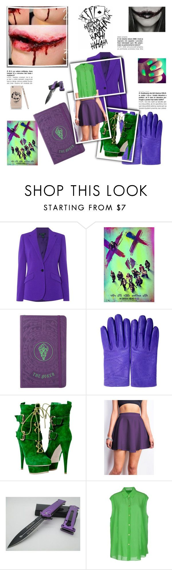 """""""Holly Davis - Costume Party (Female Joker)"""" by malluh-salvatore ❤ liked on Polyvore featuring Lauren Ralph Lauren, Hermès and Acne Studios"""