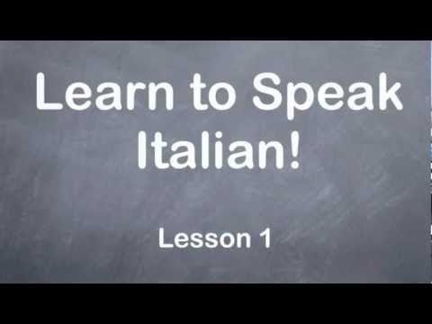 Learn to Speak Italian for free.