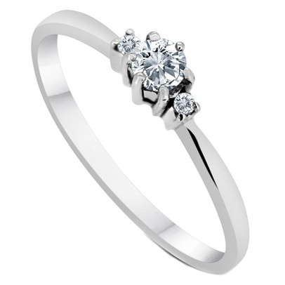 simple small engagement rings