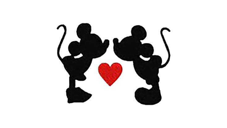 Mickey and Minnie love decal