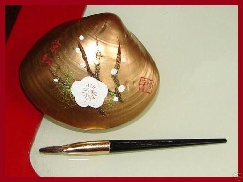 Japonés 'Beni-IRI AWASE-Gai' Pintado Seashell kyobeni Lápiz Labial blanco Plum Blossom   Belleza y salud, Maquillaje, Labios   eBay!